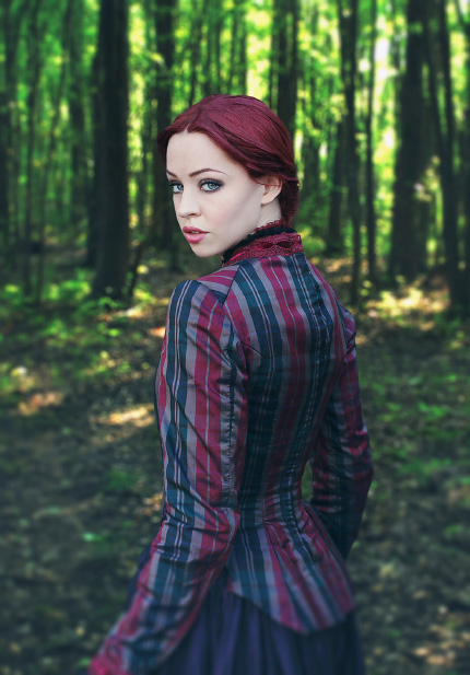 Redhead in Woods